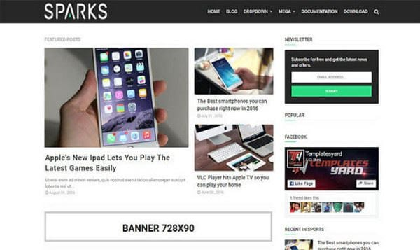 download blogspot template for free news 4