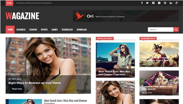 download blogspot template for free news 6