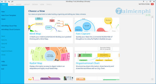 I have just maintained with imindmap 8