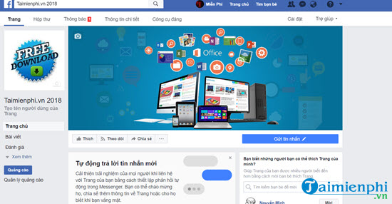 I create a fanpage of Facebook about product introduction