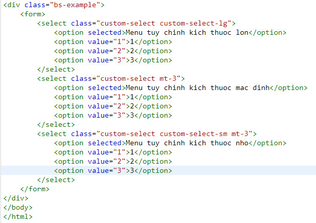 Create a quick template in bootstrap 13
