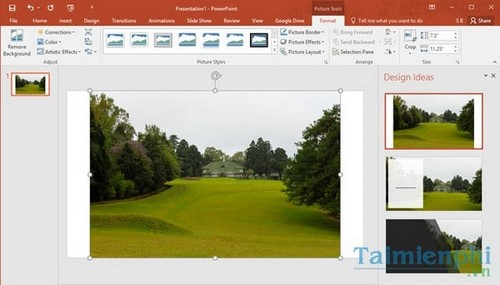 I create powerpoint slie in office 2016