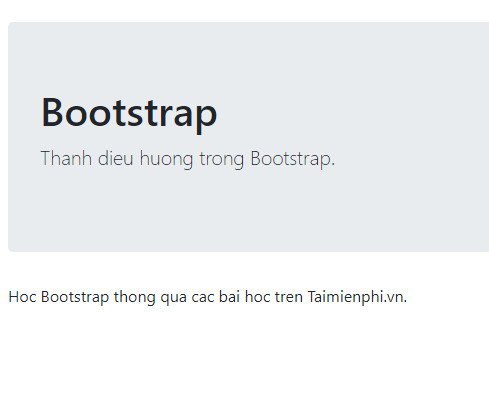 I created the navigation bar in bootstrap 12