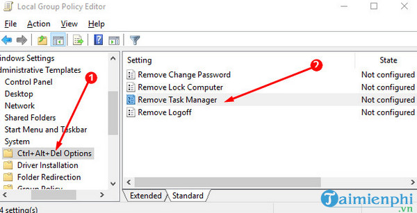 task manager on windows 10 can not be asked