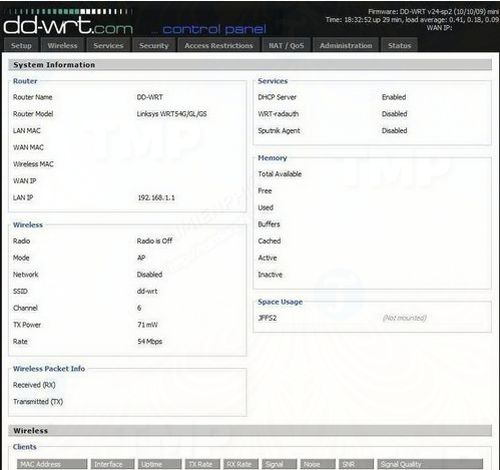 change settings on the router dd wrt 2