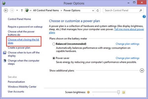 Change the power button in Windows