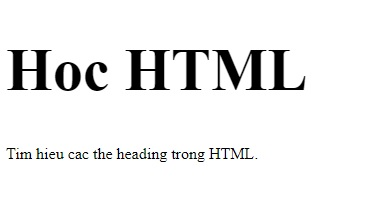 the heading in html 4