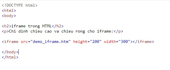 the iframe in html 2