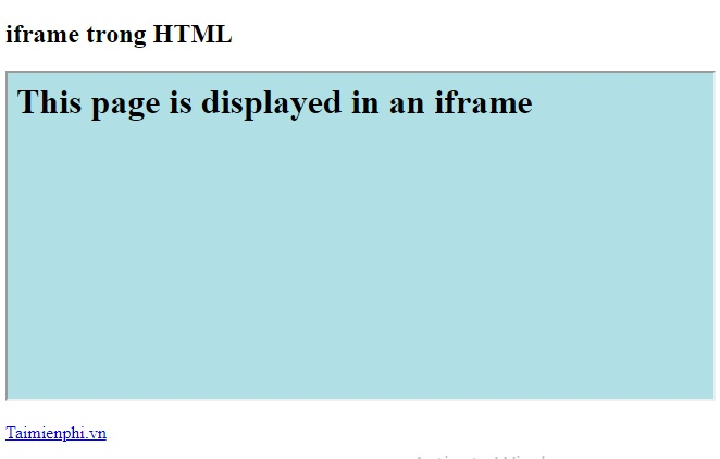 the iframe in html 13