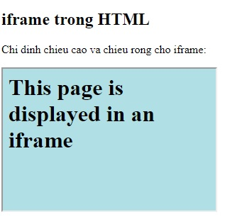 the iframe in html 3