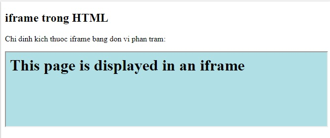 the iframe in html 5