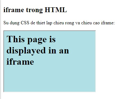 the iframe in html 7