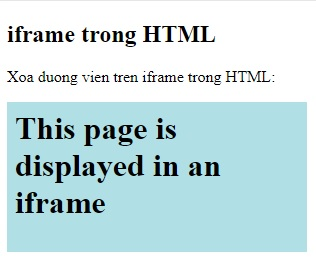 the iframe in html 9