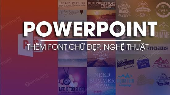Additional fonts are nice for powerpoint files