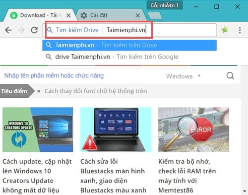 add google drive search right on chrome browser address bar 6
