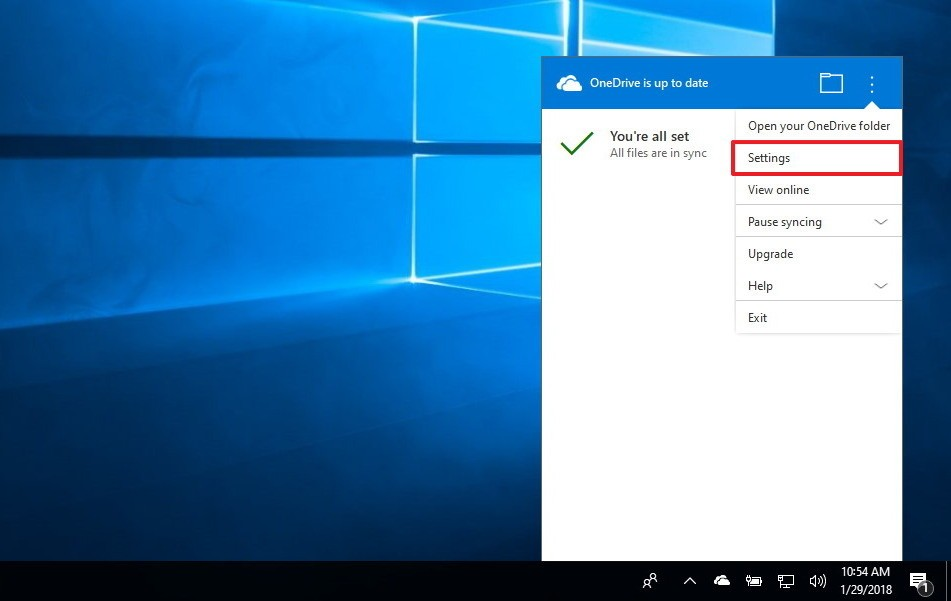 Install onedrive as a storage device in Windows 10 2