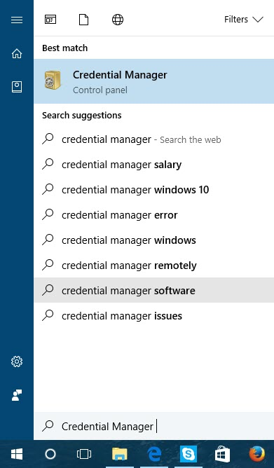 Search for the password on the Windows 2 laptop