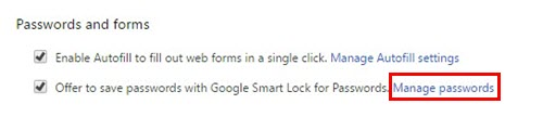 Search for the password on the Windows 8 laptop