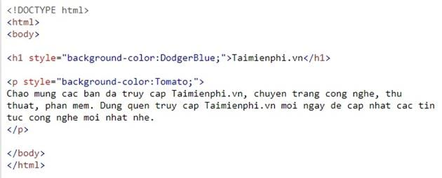 color filter in html 3