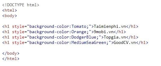 color in html
