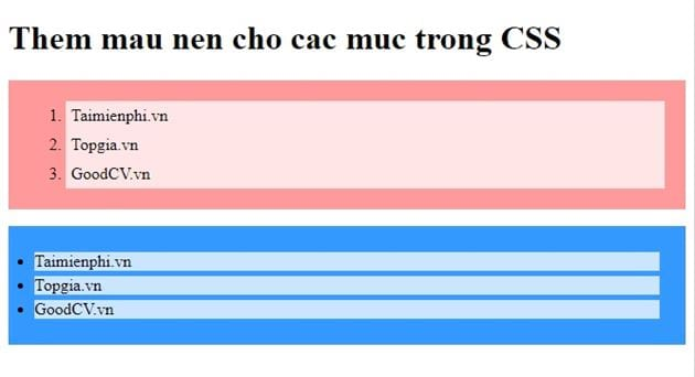 list of css list in css 12