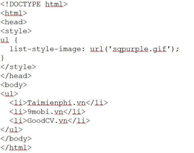 list of css list in css 3
