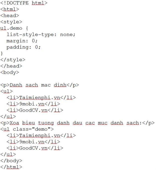 list of css list in css 7