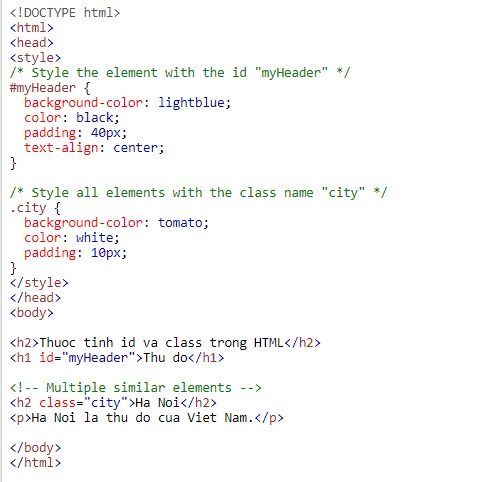 id idioms in html 3