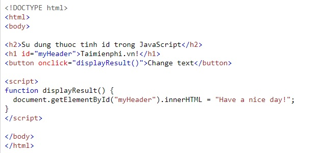 id idioms in html 10