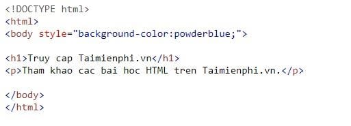 style style in html 2