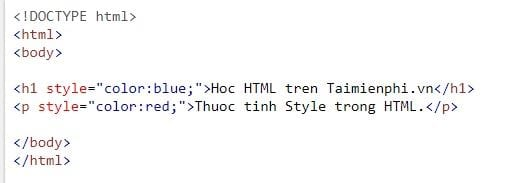 style style in html 4
