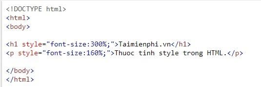 style style in html 8