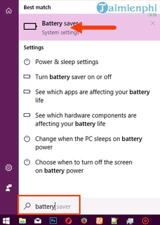 save laptop battery life by using it on windows 10 3