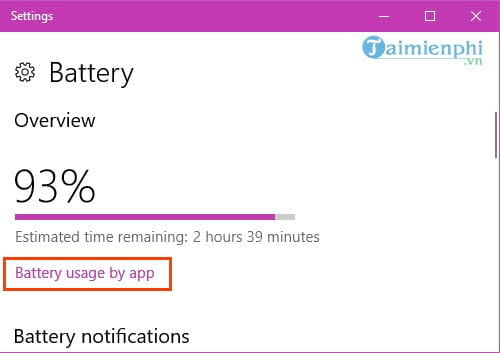 save laptop battery life by using it on windows 10 4