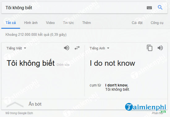 i don't know english