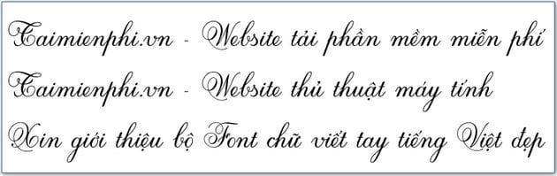 Select a font from the Vietnamese language, and use the Vietnamese language 5