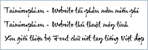 Select a font from the Vietnamese language