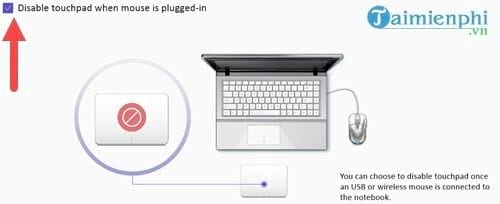 disable touchpad or gap and repair 9