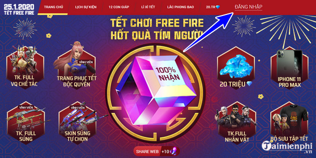 Free trial of Tet garena and recognition method 2