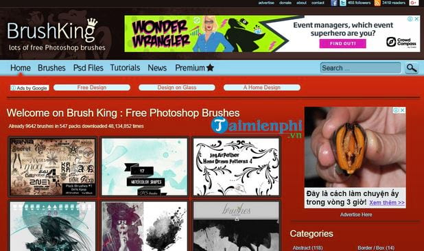 top website also offers photoshop brush free2