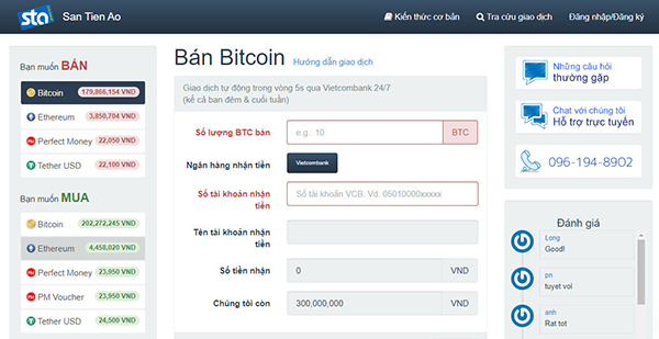 Top websites to buy and sell bitcoin in Vietnam. 3