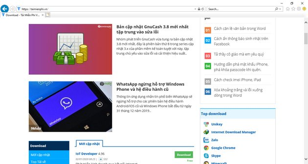top of the most popular web browser today