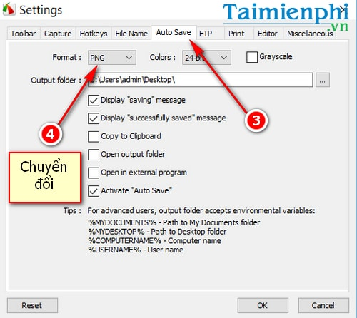 how to convert adhesion from png to jpg in faststone capture