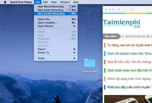 turn to screen macbook with quicktime player 2
