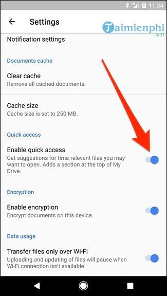 Show quick access movies on google drive 12
