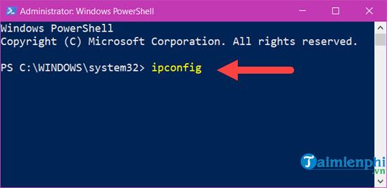 See the ip address of the windows 10 super computer which takes time 6