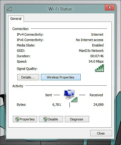 See the wifi password win 7