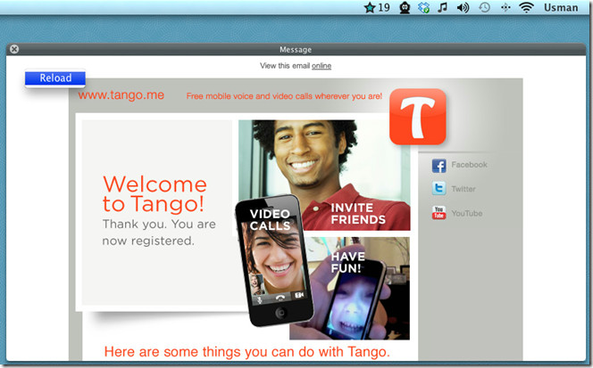 View and read email messages of gmail star from the menu bar on mac 3