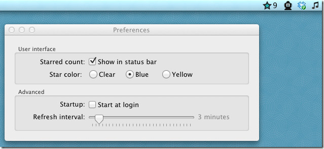 View and read email messages of gmail star from the menu bar on Mac 4