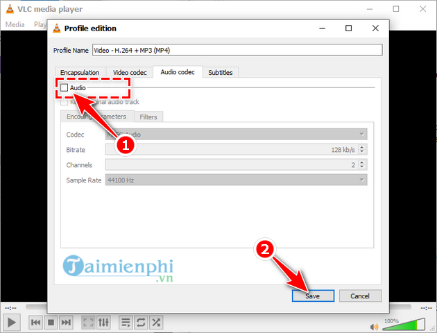 delete sound from video bang vlc 10